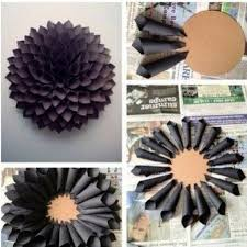 Diy Wall Decor Ideas Pinterest How To Make A Paper Wreath Dahlia Inspired Under 10