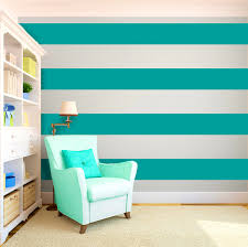 BathroomAppealing Cool Painting Ideas That Turn Walls And Ceilings Into A Statement Striped Bedroom Turquoise Wall