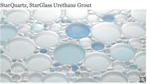 you used starglass starquartz grout with glass tiles your
