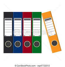 classeur de bureau fichiers coloré classeurs bureau folders anneau plat