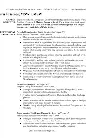 Social Work Resume Examples Worker Sample Projects