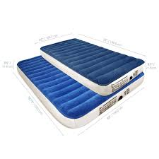 Aerobed Queen Air Bed With Headboard by Soundasleep Camping Series Air Mattress With Included Rechargable