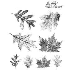 Stampers Anonymous Tim Holtz Cling Mounted Rubber Stamp Set Falling Leaves