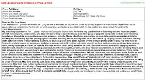 Composite Worker Cover Letter Template Format
