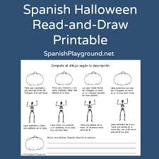 Spanish Countries That Celebrate Halloween by Spanish Halloween Read And Draw Printable Halloween Printable