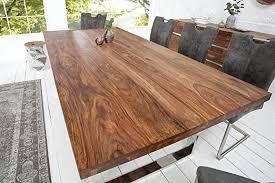 dunord design esstisch holz massiv sheesham massivholz tisch