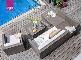 lounge tisch aus resysta in grey mit aluminiumfüßen mbm loungetisch island
