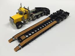 100 Toy Peterbilt Trucks Buffalo Road Imports 379 Rogers Lowboy Yellow TRUCK