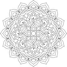 This Is Cheerful Oasis One Of Over 100 Printable Mandalas For You To Color