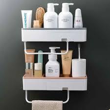 badezimmer regal dusche caddy organizer wand montiert