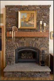 Gas Light Mantles Home Depot by Architecture Fireplace Stone With Wooden Mantle Also Stone Tile