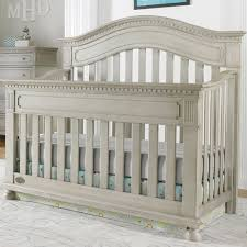 Naples Arched Convertible Crib Grey Satin and Nursery Necessities