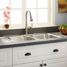 Double Bathroom Sinks Home Depot by Sinks Amusing Drop In Stainless Steel Sink Home Depot Kitchen