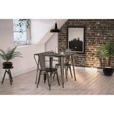 Wayfair White Dining Room Sets by Dhp Fusion Dining Table Square Antique Gun Metal Wood Walmart Com