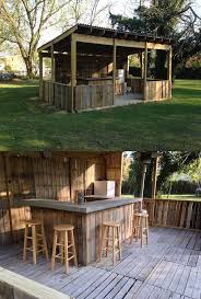 Brilliant Patio In The Garden With Charming Outdoor Bar Diy Decoration U Shape Design