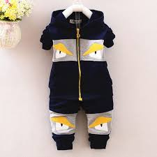 2018 New Baby Boy Clothes Suit Children Fall Long Sleeved Cotton Zipper