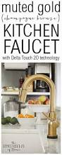 Delta Trinsic Kitchen Faucet Champagne Bronze by Best 25 Gold Faucet Ideas On Pinterest Brass Bathroom Fixtures