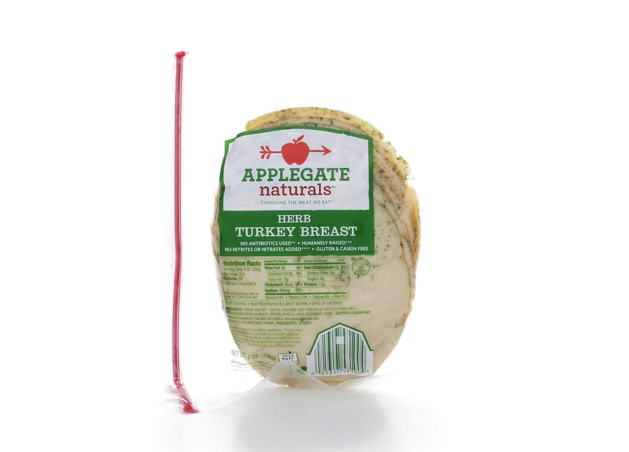 Applegate Naturals Turkey, Breast, Herb - 7 oz