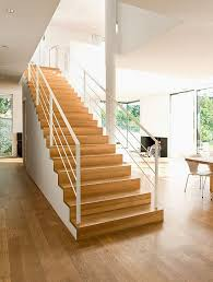 treppen treppengeländer aus holz stahl beton