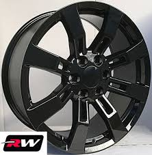100 20 Inch Truck Rims X85 Inch RW CK375 Wheels For GMC Gloss Black 6x1397