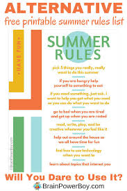 Try This Alternative Summer Rules List For A Kinder Happier Read About How