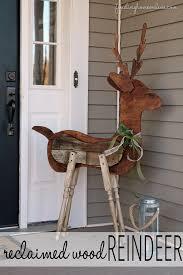 Reclaimed Wood Reindeer Outdoor Decorating