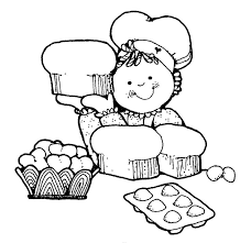 Black And White Cooking · Baking Clipart Kids Cook