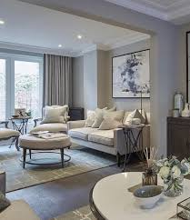 chelsea townhouse sitting room with taupe and celadon green