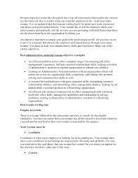 Objective For Administrative Resume Career Admin Nice Sample