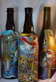Decorative Wine Bottles Crafts by 487 Best Bottle Ideas Images On Pinterest Decorated Bottles