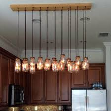 16 Light DIY Mason Jar Chandelier