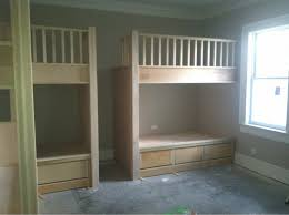 built in twin beds built in bunk beds woodworking project