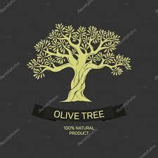 Hand drawn graphic olive tree Vector illustration for labels packs logo design