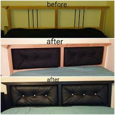 Bekkestua Headboard Standard Bed Frame by Ikea Hack Sorta Upholstered Headboard On The Dalselv Bed Frame
