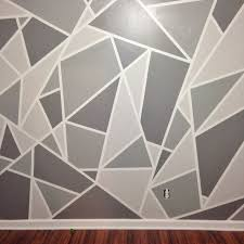 Wall Designs With Paint 1 DIY Faux Wallpaper Accent Statement