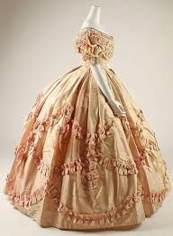 Ladies Antique Victorian Vintage Medieval Dress 1800s Pink Ball GownsBall