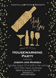 Gold Glitter Stock The Bar Housewarming Invitation Couples Shower Engagement Party Digital File Print Yourself