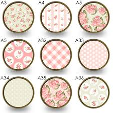 Pink Flower Dresser Knobs by Floral Patterned Cupboard Door Knobs By Pushka Home