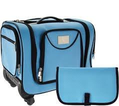 Qvc Christmas Tree Storage Bag by Weekender Bag With Snap In Toiletry Case By Lori Greiner Page 1