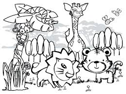 African Animals Coloring Pages Free For Kids Collection Animal Printable Gallery Book