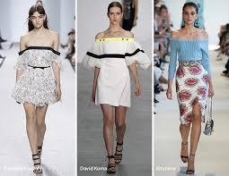 Spring Summer 2017 Fashion Trends Off The Shoulder Designs