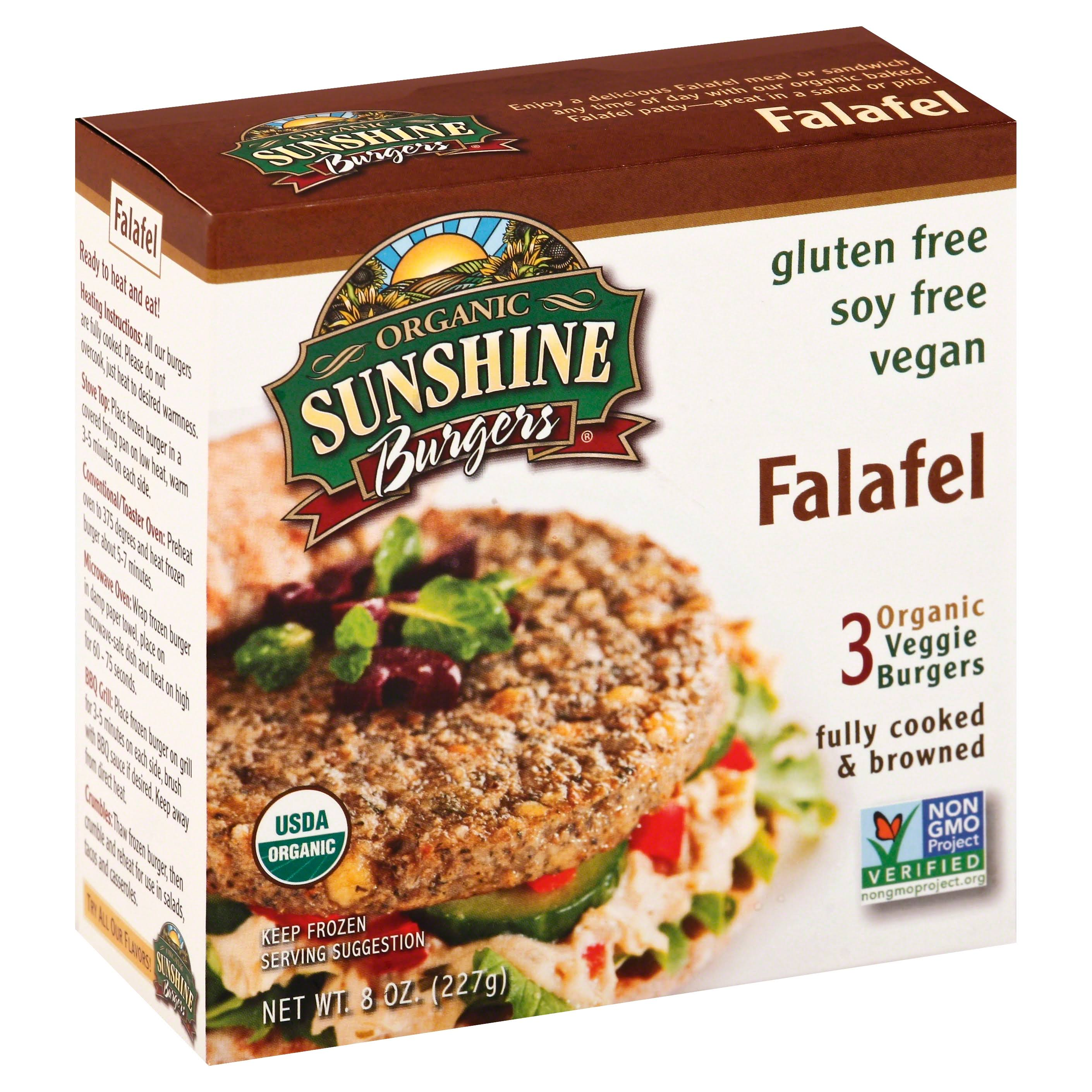 Sunshine Burger Organic Falafel Patty - 3 pack, 8 oz box