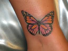 Butterfly Ankle Tattoo Ideas For Women
