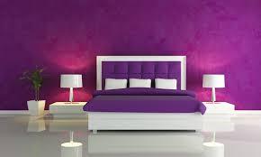 Purple Walls In A Bedroom