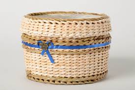 Paper Jewelry Designs Handmade Woven Basket Newspaper Craft Box Design Gift Ideas