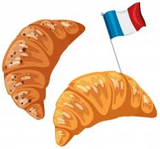 An Original French Croissant On White Background