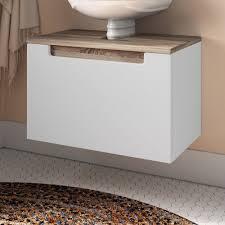 60 cm waschbeckenunterschrank eliora modernmoments farbe weiß hochglanz eiche sonoma weiß