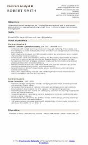 Contract Analyst II Resume Format