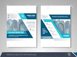 Front And Back Page Annual Report Brochure Design Template Leaflet