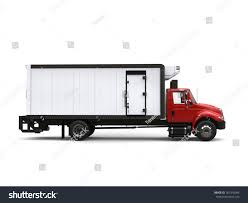 Red Refrigerator Truck Side View 3 D Stock Illustration 781310284 ...